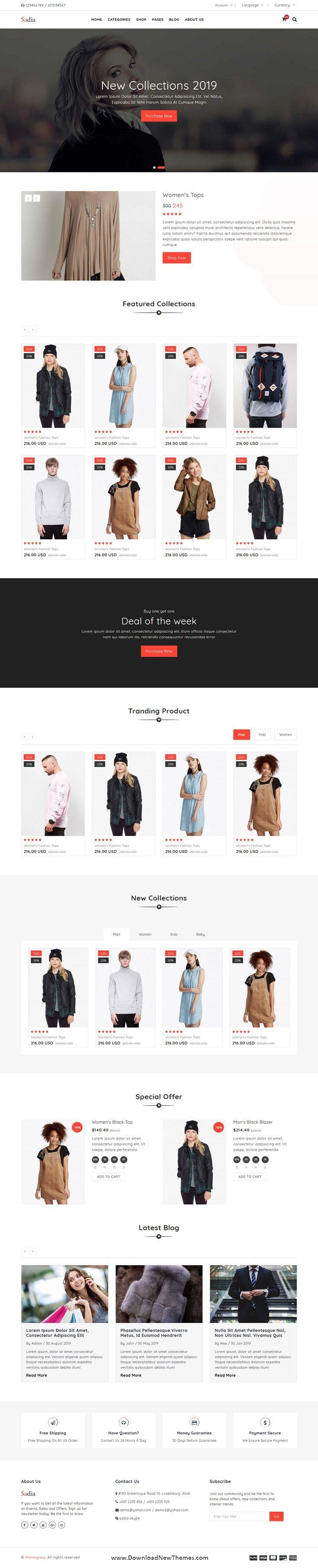 Sadia is a clean, elegant and modern design 3in1