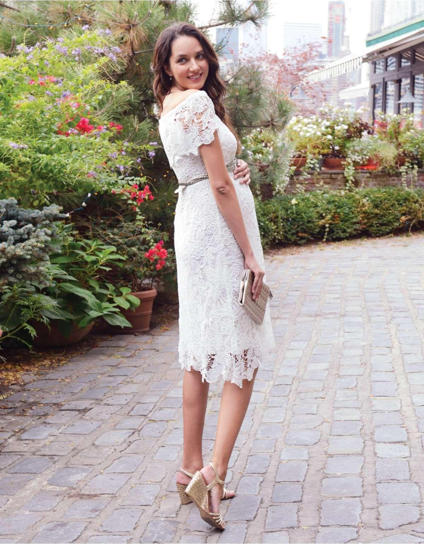 ad627c88d3b White Crochet Lace Pregnancy Dress. White Crochet Lace Pregnancy Dress  Bohemian Maternity ...