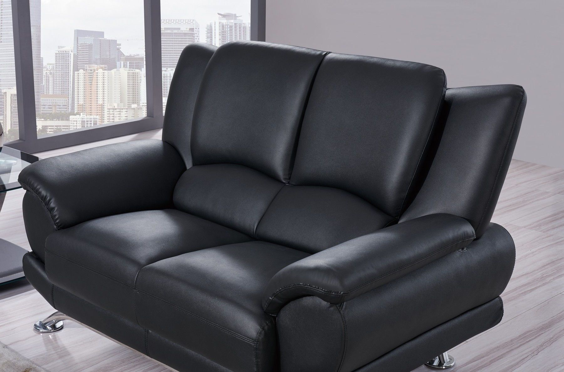 G9908 Black Sofa Modern Leather Sofa Leather Sofa Leather Loveseat