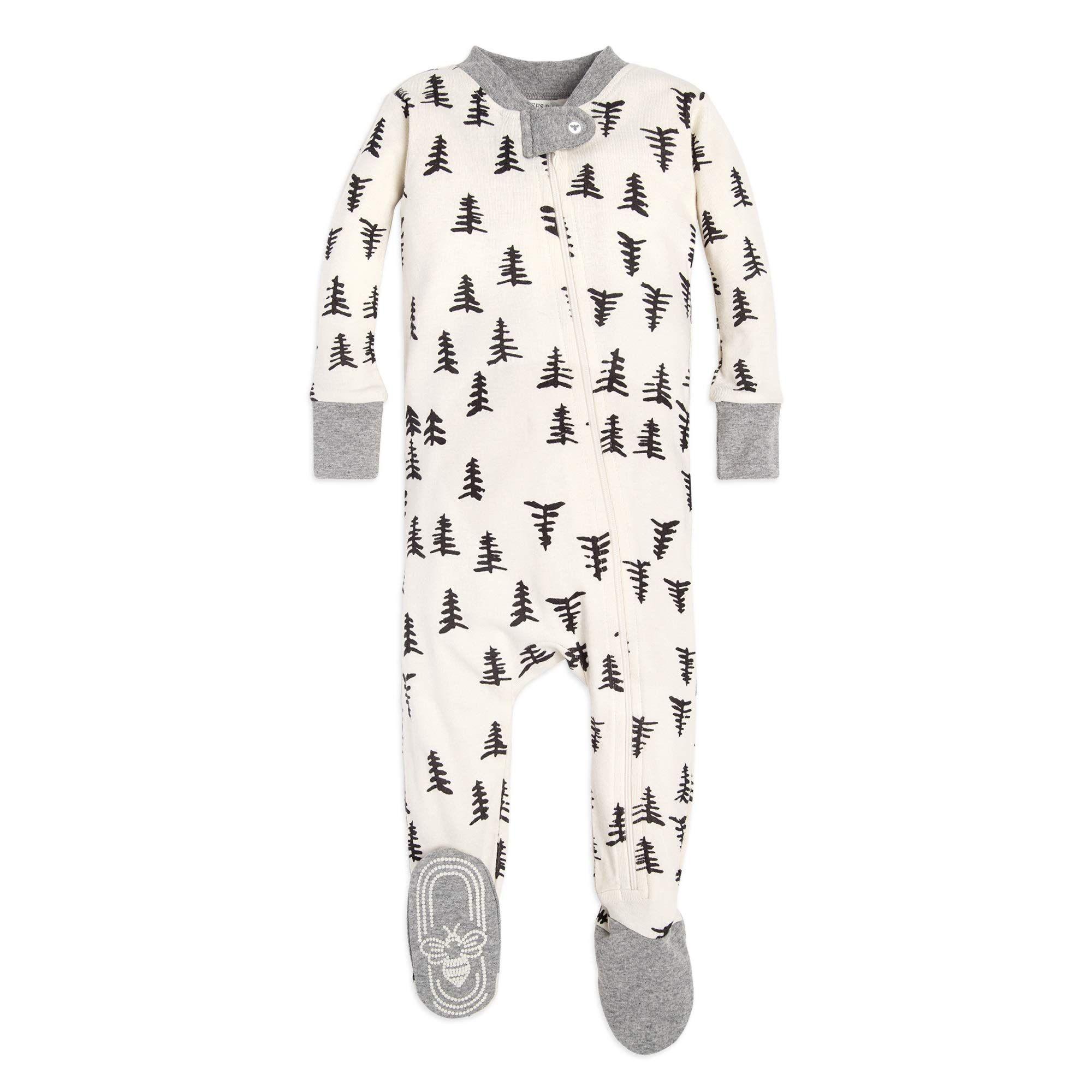 Burts Bees Baby Baby Boys Unisex Pajamas Zip-Front Non-Slip Footed Sleeper Pjs Organic Cotton