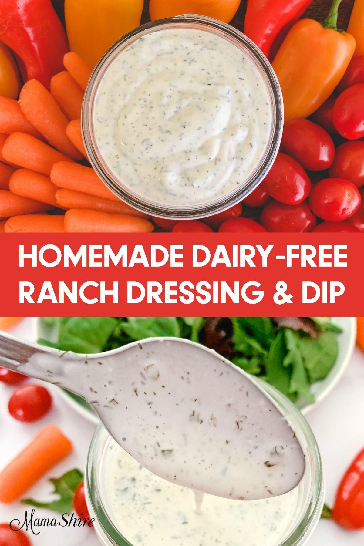 Homemade Dairy Free Ranch Dressing Recipe