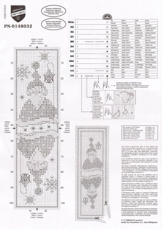 Cross-stitch Santa Gnomes Bookmark, part 2... Gallery.ru / Фото #97 ...