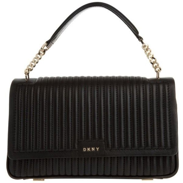 DKNY Gansevoort Pinstripe Quilted Lamb Nappa Bag Black in black ... : dkny black quilted purse - Adamdwight.com