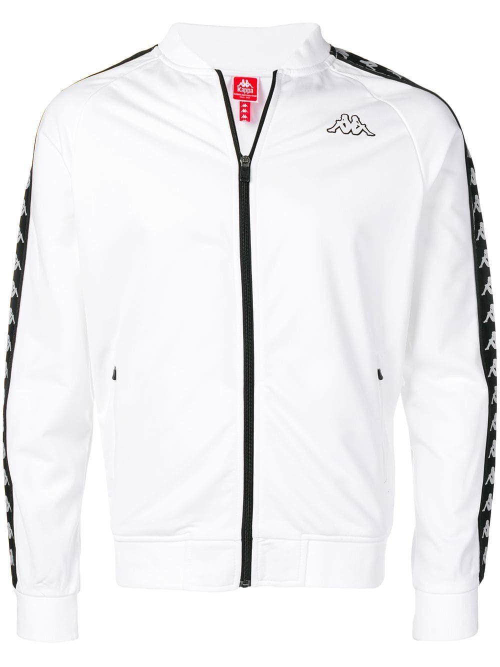 Kappa Bomber In White Modesens White Sweatshirt Trendy Sweatshirt Sweatshirt Street Style [ 1334 x 1000 Pixel ]