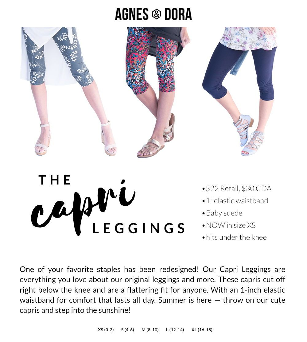 add0ac569ae012 Agnes and Dora Capri leggings, comfortable waistband and great for summer # capris #agnesanddora