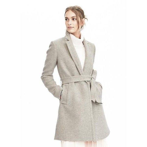 Banana Republic Long Wrap Coat ($268) ❤ liked on Polyvore ...