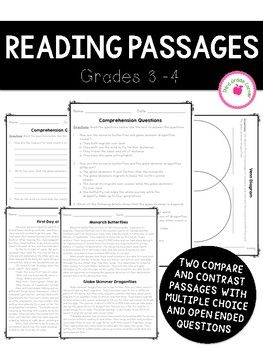 Reading Comprehension Passages focused on Comparing and