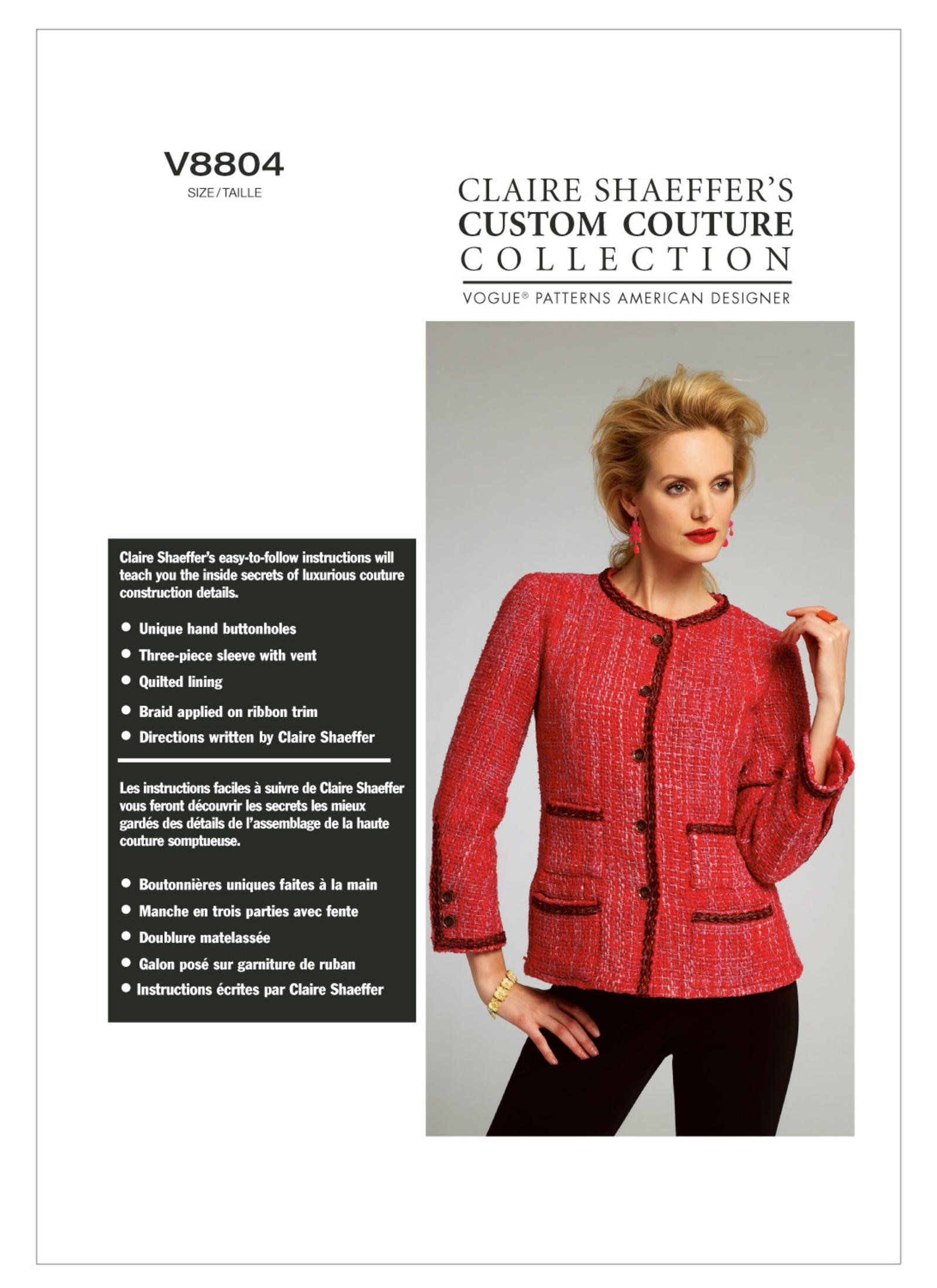 c4612db0c77ce Vogue Patterns 8804 Misses Jacket   Styles to Sew   Pinterest
