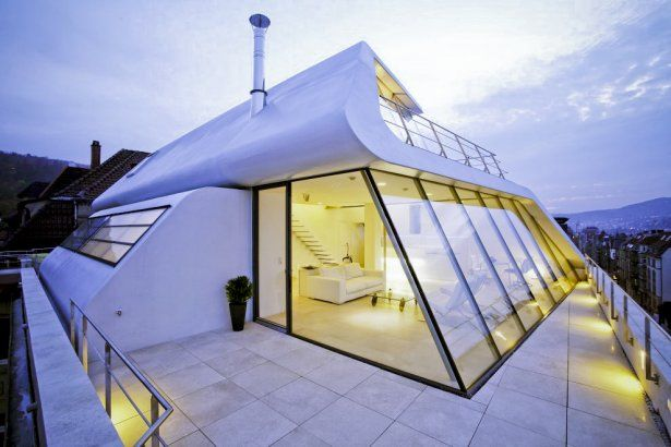 Ist eine maisonette in stuttgart modernes architektonisches design dieses alte gebäude wurde anfang des errichtet