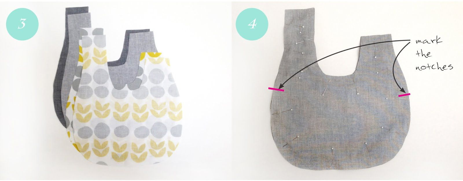 This simple reversible bag is an easy project for beginner and ...