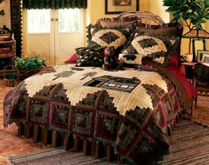 Oversized King Size Bedding 126x120 Quilts Northwoods Luxury