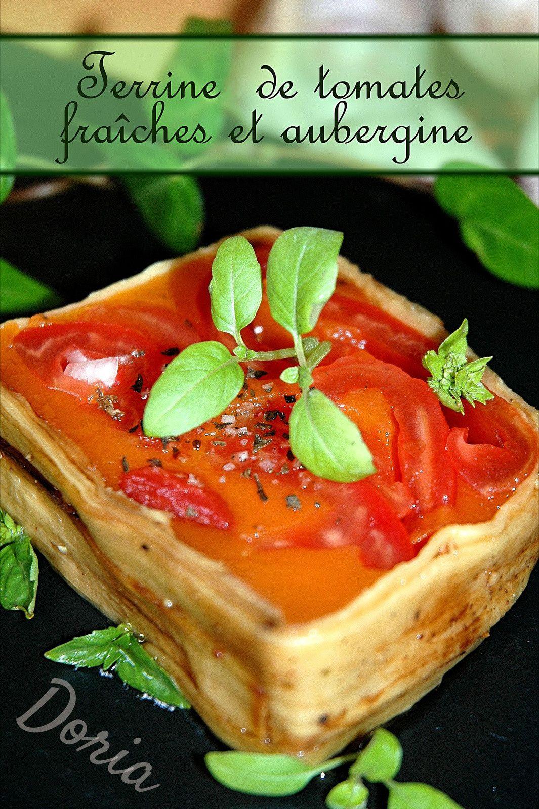 Terrine de tomates fraîches et aubergine Terrine