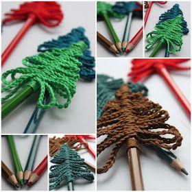 InHaken: Kerstboom potloden