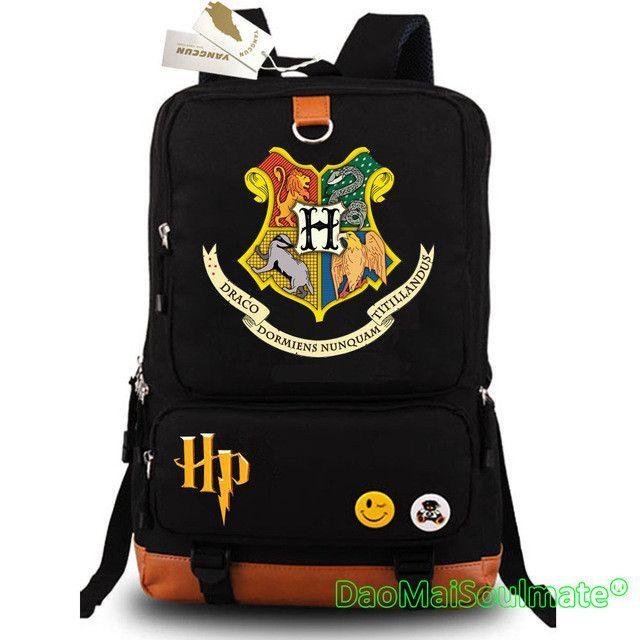18f0e6c19ed8 Harry Potter Anime Backpacks Luminous Student Canvas School Bag Boy Travel Bags  Children Girl Backpacks Cartoon Shoulder Bag