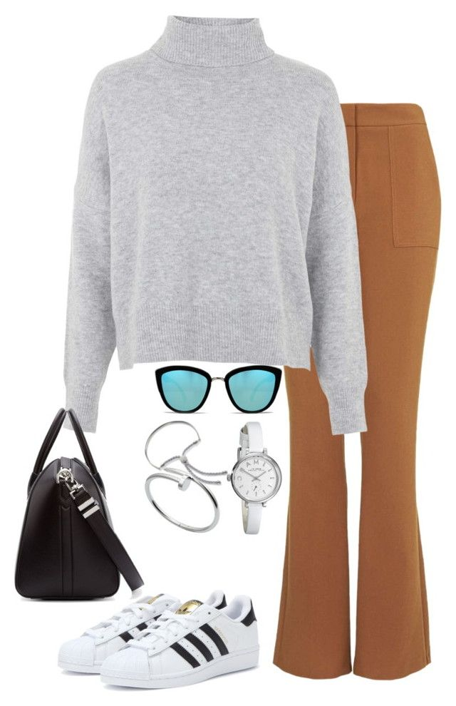 """""""Untitled #1305"""" by laurakaroliina ❤ liked on Polyvore featuring Topshop, adidas, Givenchy, Quay, Marc by Marc Jacobs, Cartier and Monica Vinader"""