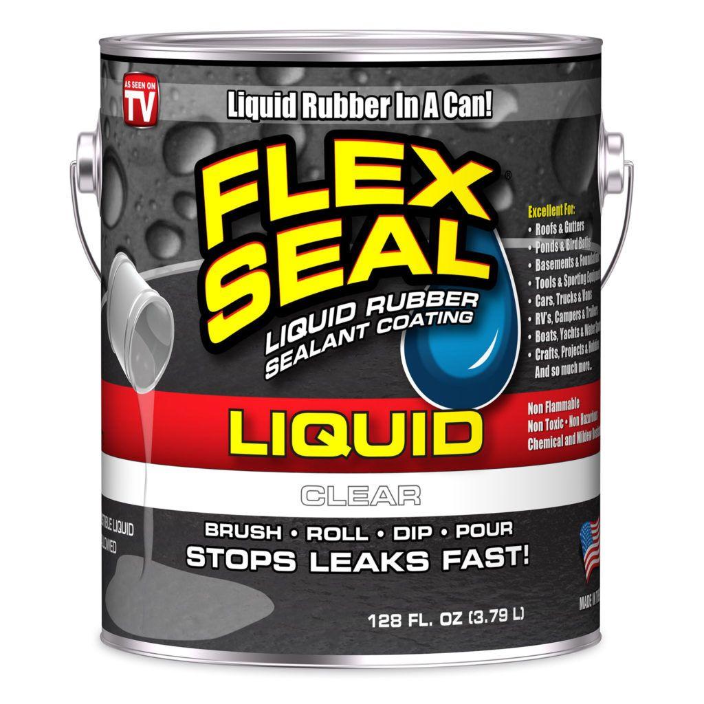 Flex Seal Liquid Rubber Sealant Coating Clear Gallon Liquid Rubber Rubber Sealant Concrete Coatings