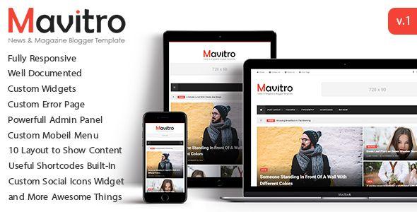 nice Mavitro - News &amp Magazine Blogger Template (Blogger ...