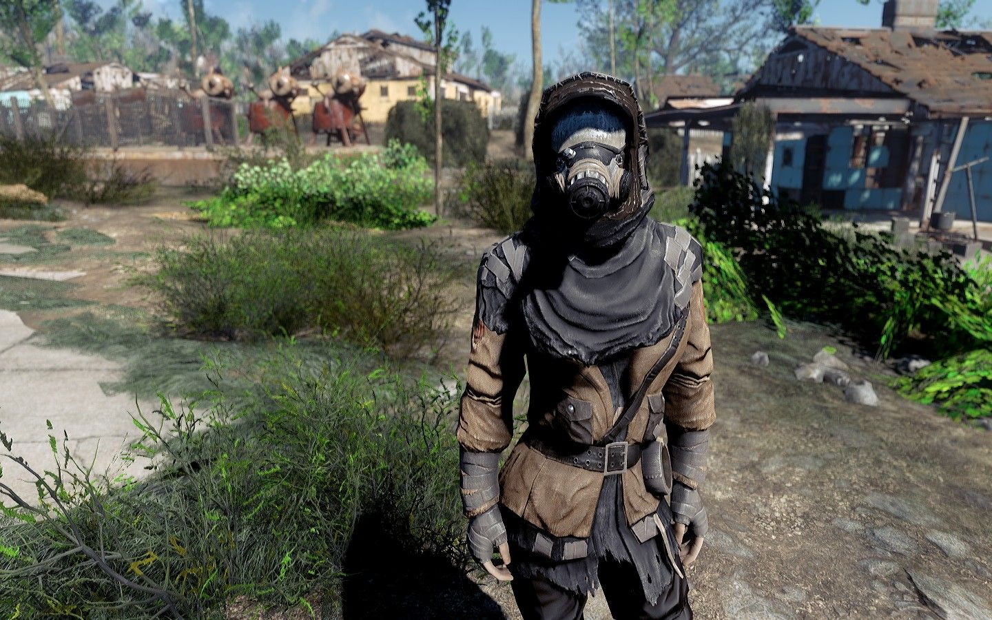 Two-Tone Gas Mask and Outfit - Fallout 4 Mod, Cheat | FO4