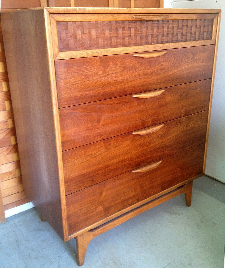 Vintage LANE Furniture PERCEPTION Warren Church Walnut Mid
