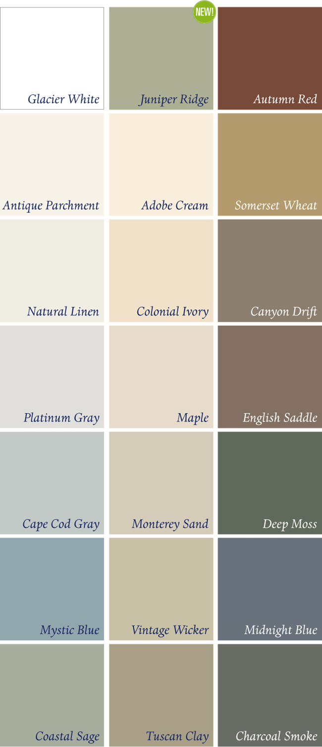 Prodigy Color Collection In 2019 Vinyl Siding Colors