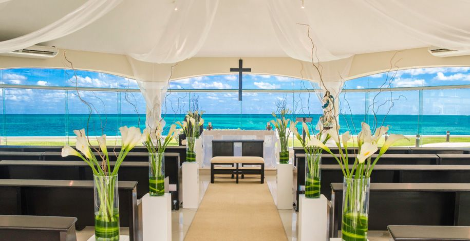 The Beautiful Beachfront Chapel At Moon Palace Cancun Overlooks Caribbean Reef