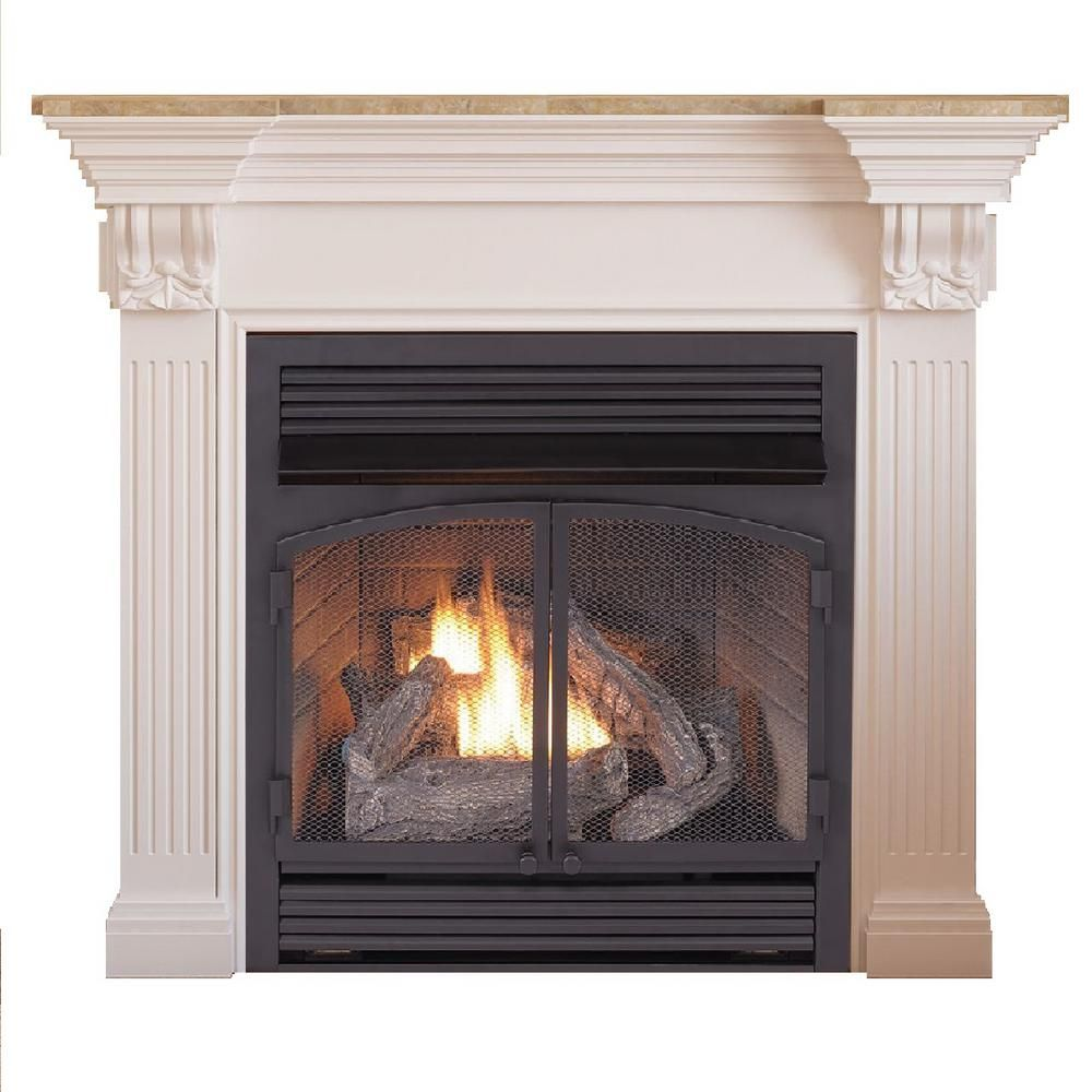 Duluth Forge 29 In 32 000 Btu Ventless Dual Fuel Gas Fireplace
