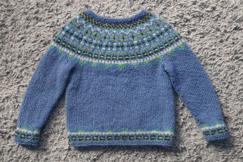 Iceland  sweater Baby Hand knitted jumper for Toddlers Fair isle jumper