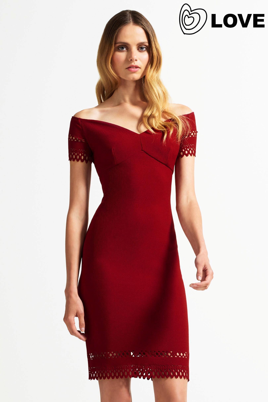 Buy love laser cut cold shoulder dress from the next uk online buy love laser cut cold shoulder dress from the next uk online shop ombrellifo Images