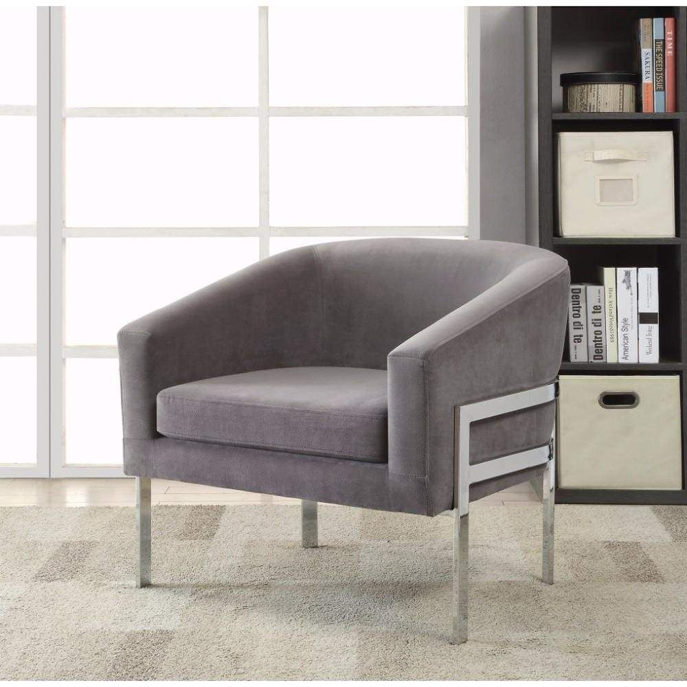 Significantly Contemporary Accent Chair Gray In 2020 Accent