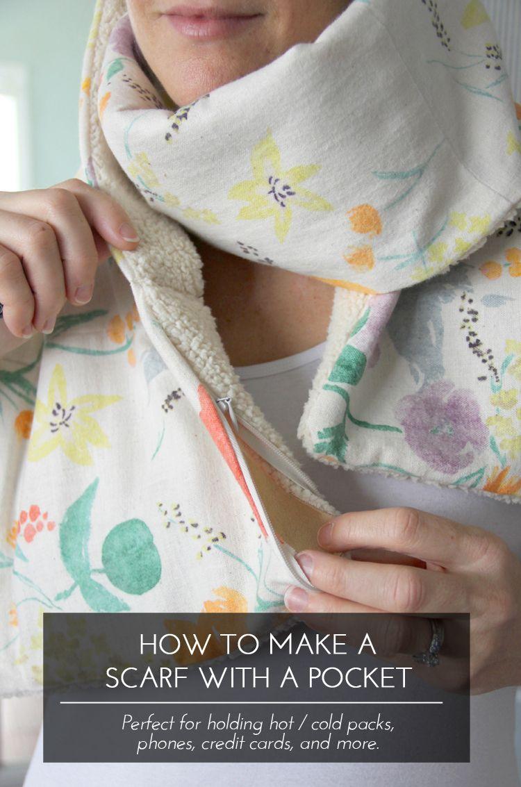 Hidden Pocket Scarf DIY | Stitch & Sew | Pinterest | Costura ...