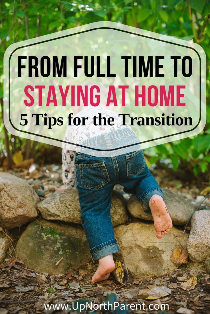 From full time to staying at home navigating the