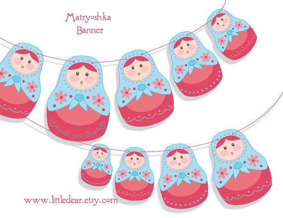 Printable Matryoshka nesting dolls Banner PDF | Escuelaideas ...