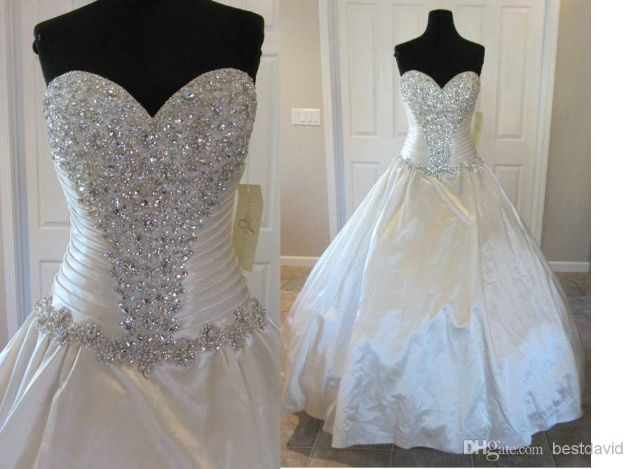 Wedding Dresses Without Bling : Bling designers wedding dresses c crystals ball gown