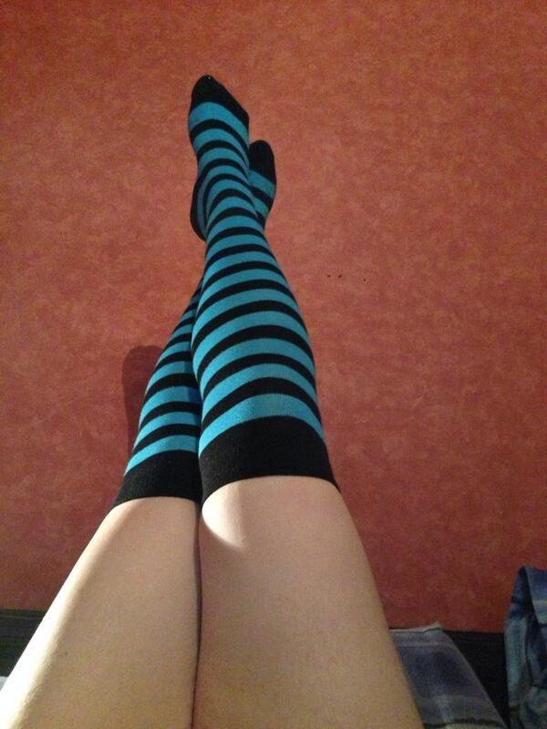 985c682083d  socks  stripy  legs  selfie High Socks