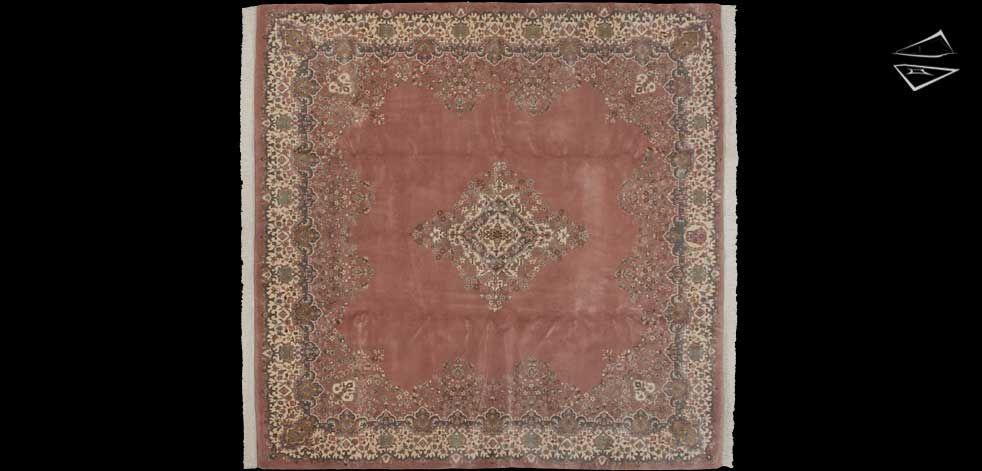 10x10 kerman design square rug | large rugs & unusual size rugs