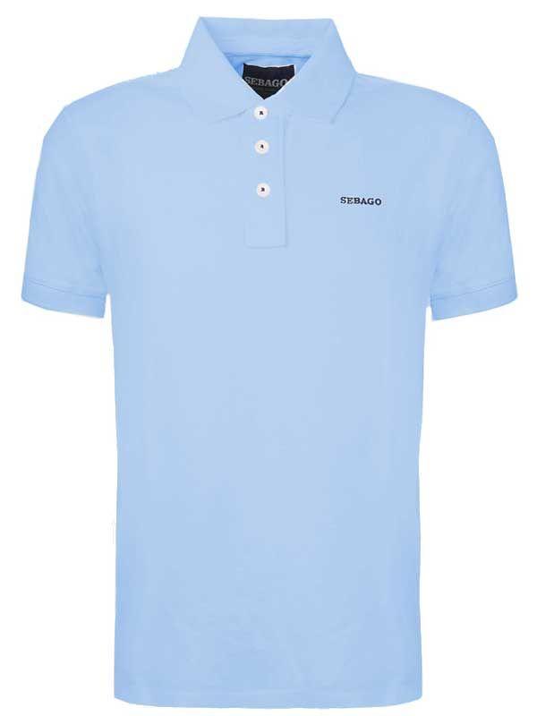 6edb96bde9758 Sebago – Outwashed Pique Polo Shirt – Light Blue