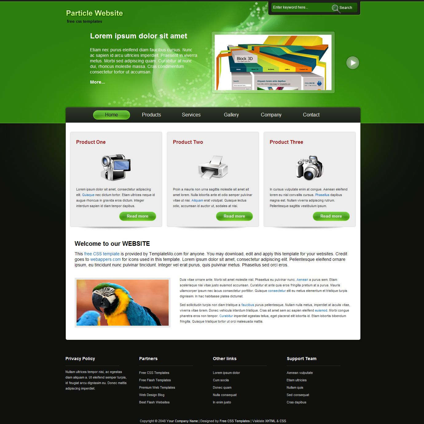 download installation click install free website templates pictures ...