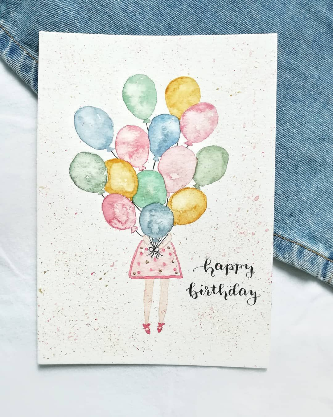 Handlettering On Instagram Birthday Card
