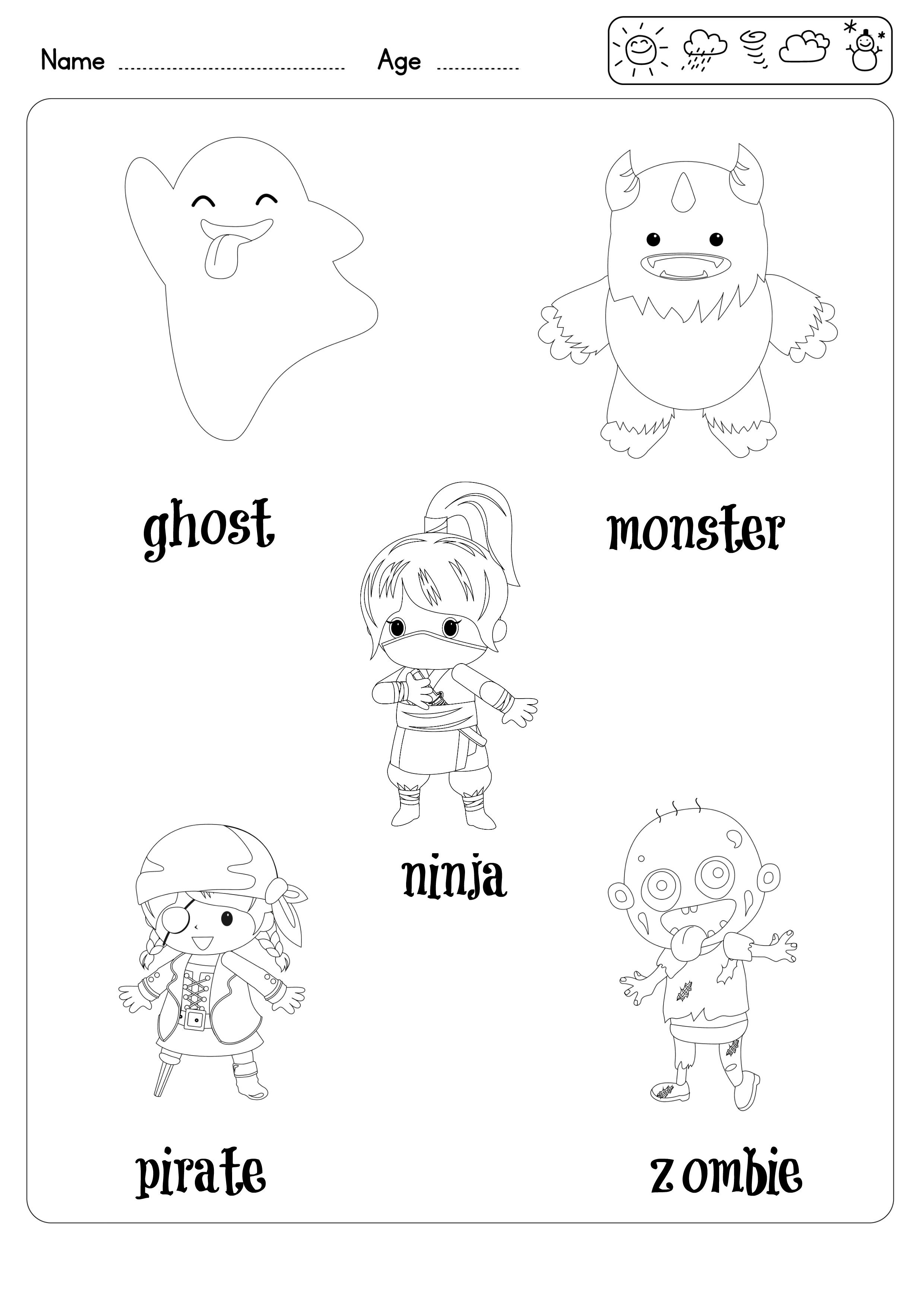 20 Coloring pages 20 Flashcards 4 Activity sheets for preschool