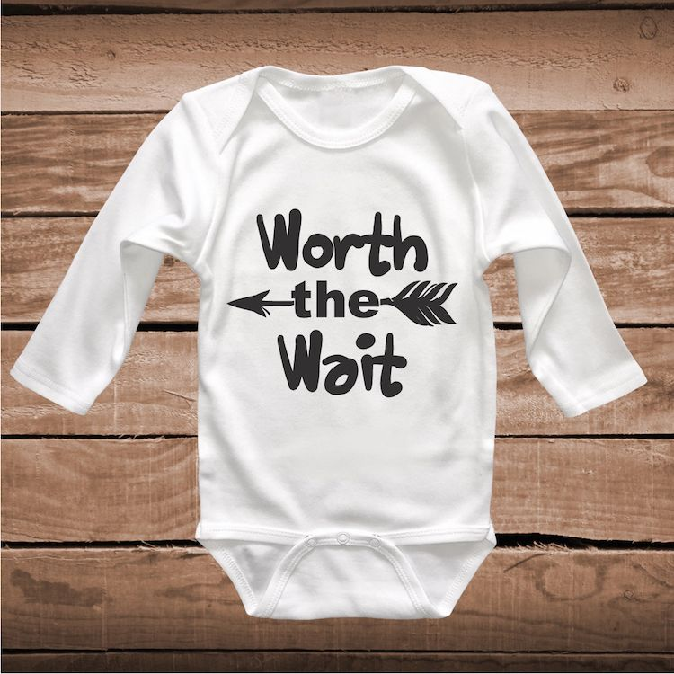 Worth The Wait Cute Baby Crawler Clever Sayings Onesies For Kids