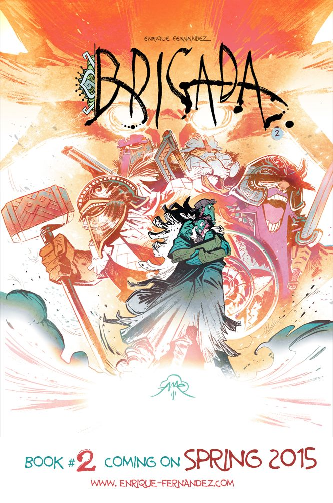 Brigada 2 Cover Graphic Novel Art Comic Art Character Design