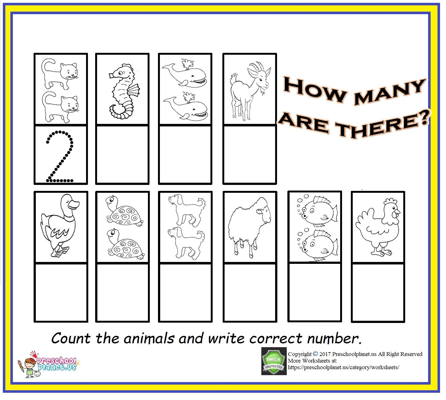 Counting Amp Number Worksheet For Kids