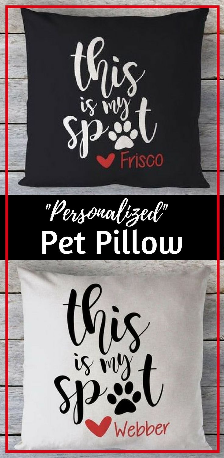 Personalized Pet Pillow Cover Animal pillows, Pets, Pet