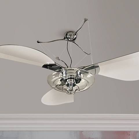 58 quorum jellyfish chrome ceiling fan with light kit 23697 58 quorum jellyfish chrome ceiling fan with light kit 23697 lamps plus aloadofball Choice Image