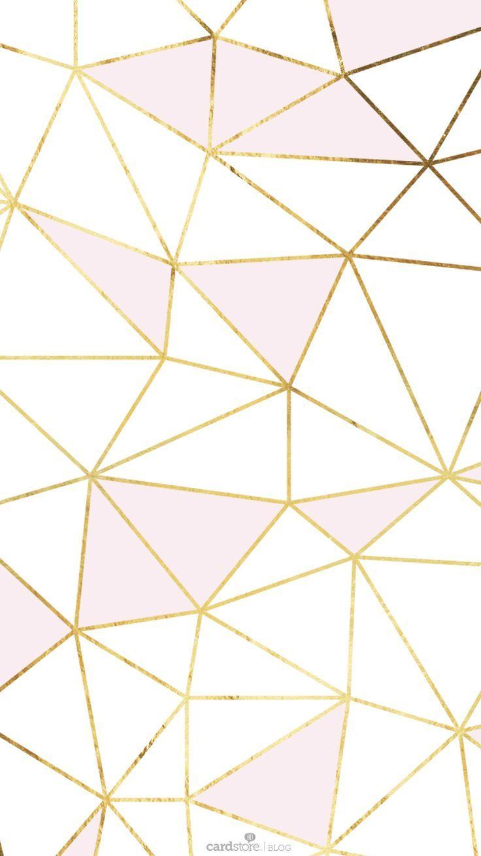 Youtuber iphone wallpaper tumblr - Pink Gold White Geometric Mosaic Iphone Wallpaper