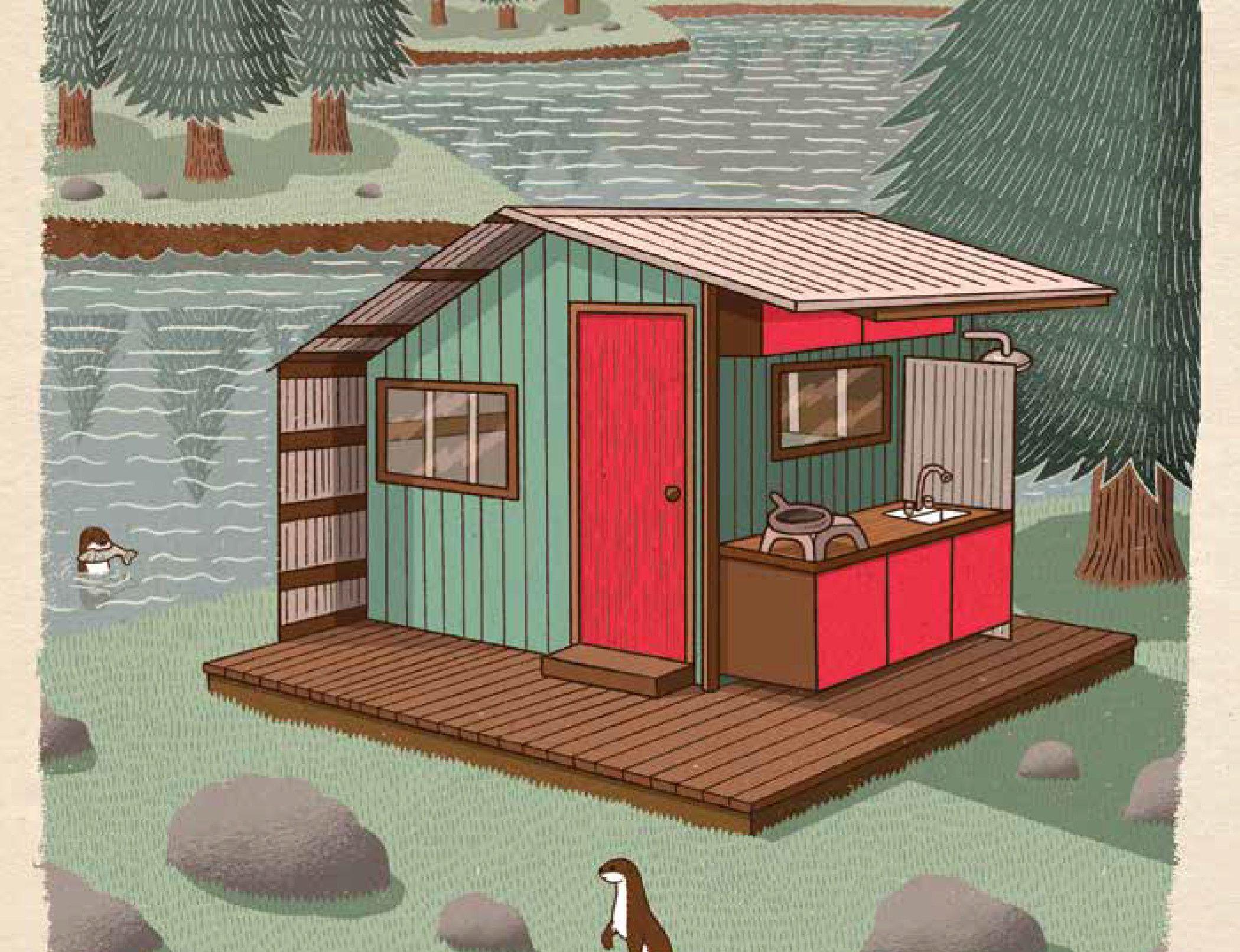 In his Microshelters book, Derek Deek Diedricksen profiles 59 adorable, imaginative structures perfect for a backyard project.