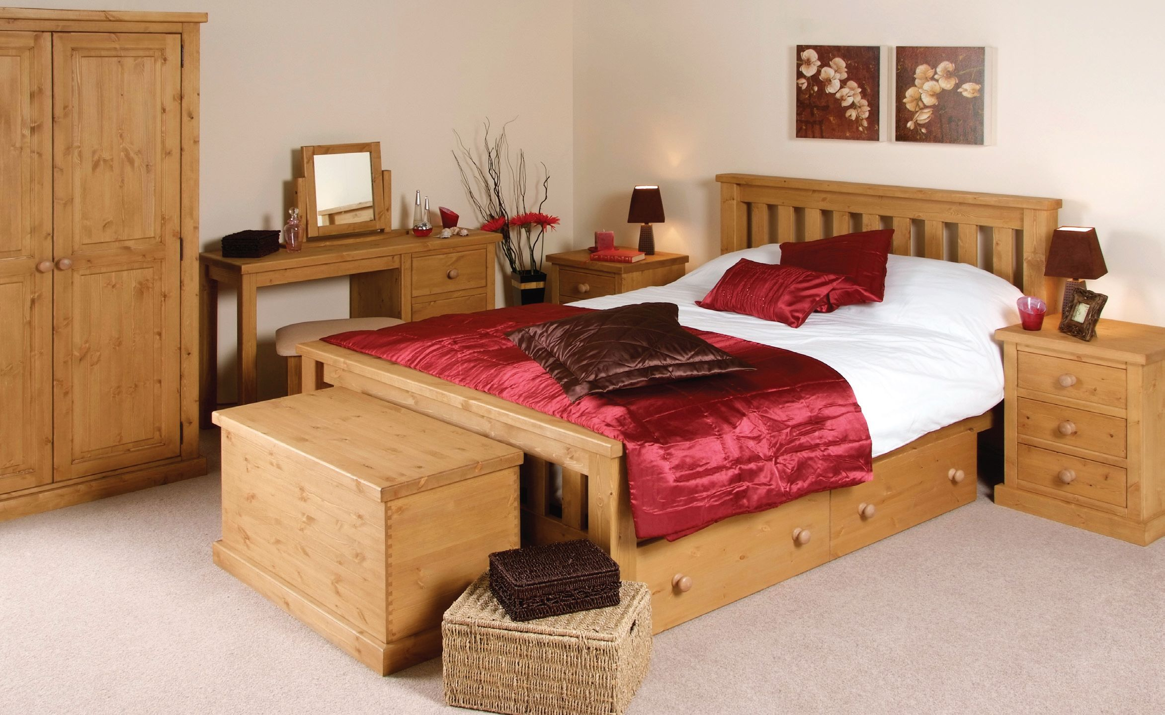The Chunky Pine bedroom range is made from solid pine and