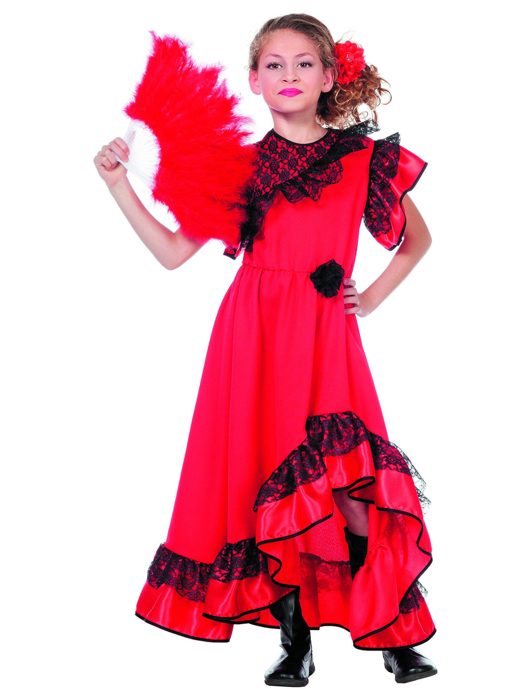 0f424d2c1 Disfraz bailarina andaluza rojo niña   Ana disfraces   Disfraces ...