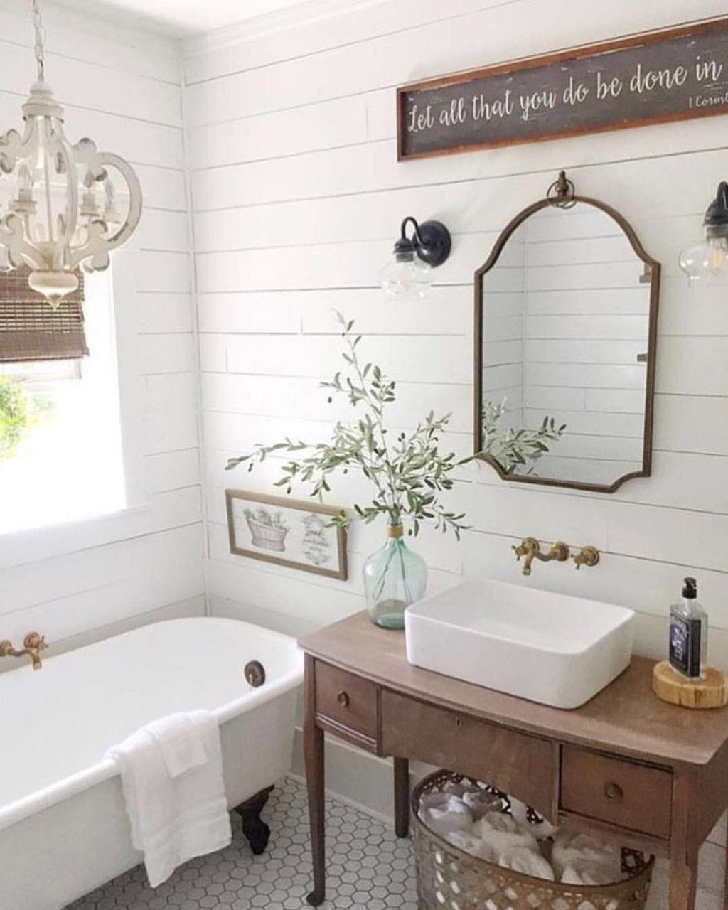 10 Best Bathroom With These Spanish Tile Bathroom Ideas Small Farmhouse Bathroom Farmhouse Bathroom Decor Bathroom Styling