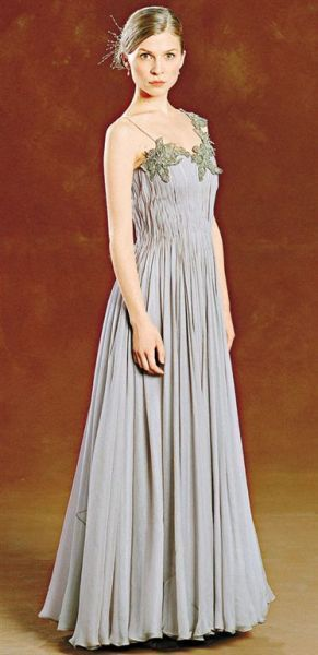 Jany Temime For Fleur Delacour Yule Ball Grey One Shoulder Gown Photograph
